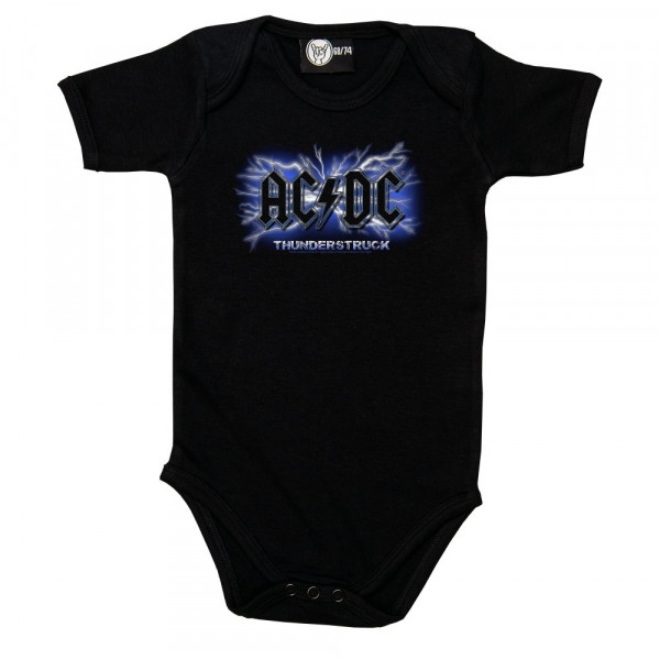 AC/DC (Thunderstruck) Baby Body mit Aufdruck in multicolor auf Metal-Kids Markenware