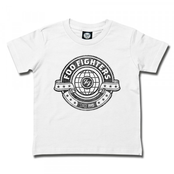 Foo Fighters (World) Kids T-Shirt mit Aufdruck in schwarz auf Metal-Kids Markenware