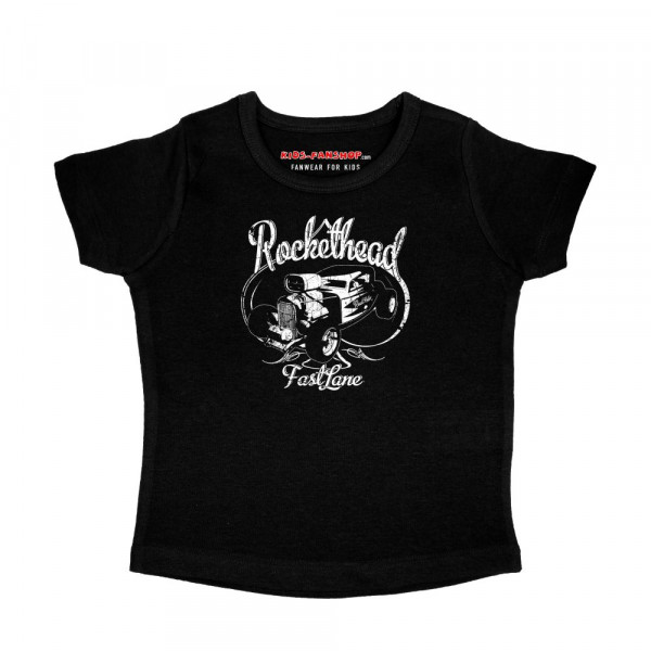 Road Rodeo (Rockethead) Girly Shirt mit Aufdruck in weiß auf Kids-Fanshop Markenware