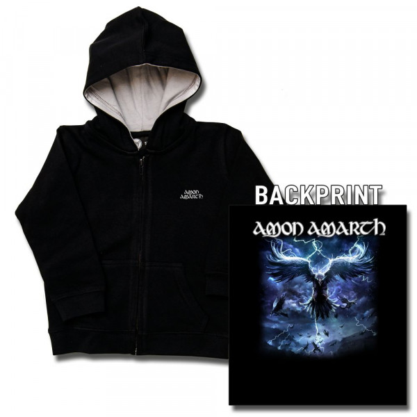 Amon Amarth (Raven's Flight) Kids Kapuzenjacke mit Aufdruck in multicolor auf Metal-Kids Markenware