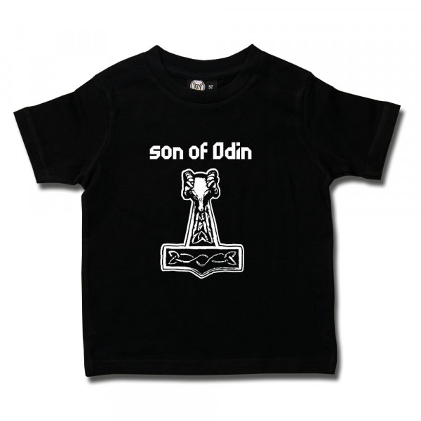 son of Odin Kids T-Shirt mit Aufdruck in weiß auf Metal-Kids Markenware
