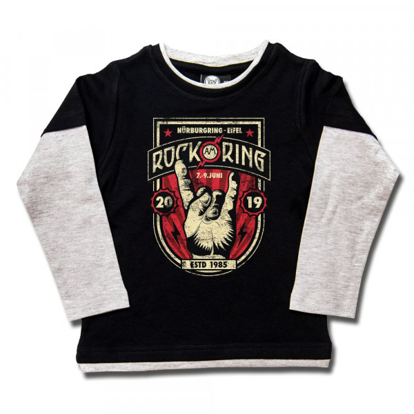 Rock am Ring (2019) Kids Skater Shirt mit Aufdruck in multicolor auf Metal-Kids Markenware