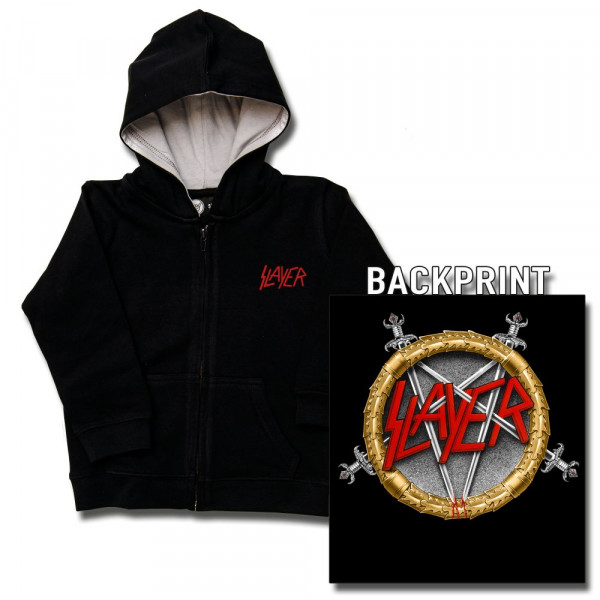 Slayer (Pentagram) Baby Kapuzenjacke mit Aufdruck in multicolor auf Metal-Kids Markenware