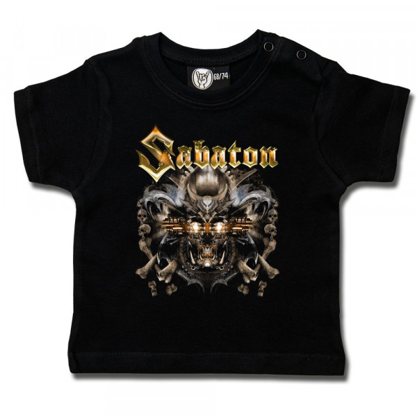 Sabaton (Metalizer) Baby T-Shirt mit Aufdruck in multicolor auf Metal-Kids Markenware