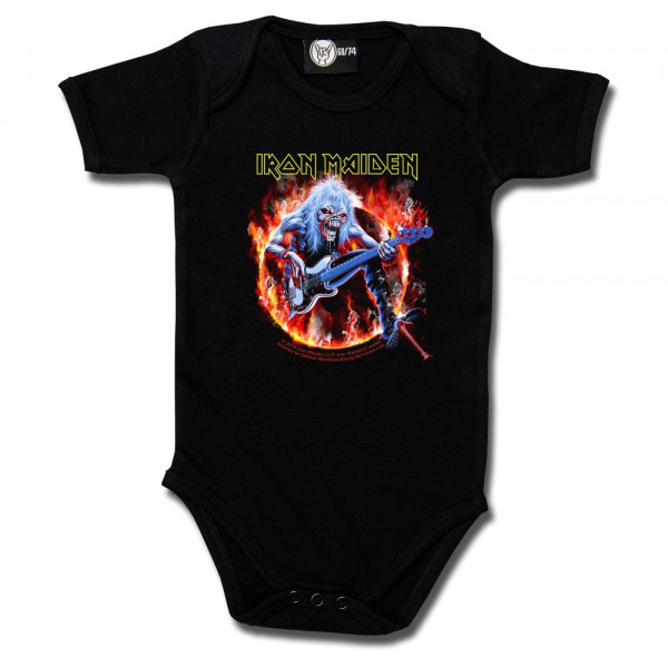 Iron Maiden (Fear Live Flame) Baby Body mit Aufdruck in multicolor auf Metal-Kids Markenware