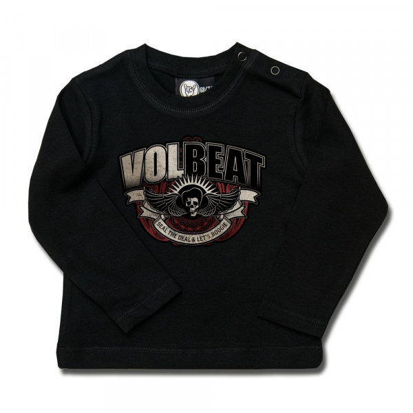 Volbeat (SkullWing Boogie) Baby Longsleeve mit Aufdruck in multicolor auf Metal-Kids Markenware