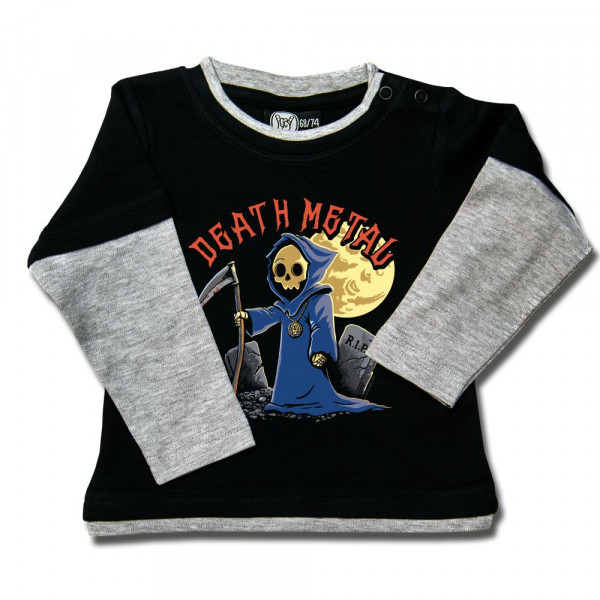 Death Metal Baby Skater Shirt mit Aufdruck in multicolor auf Metal-Kids Markenware