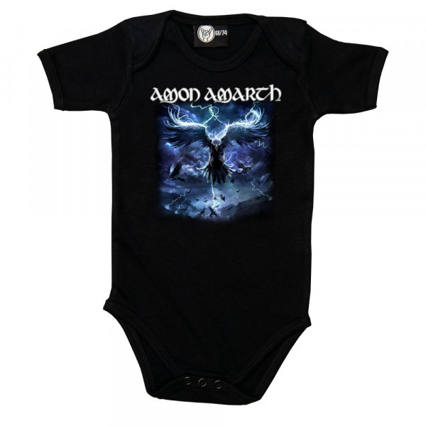 Amon Amarth (Raven's Flight) Baby Body mit Aufdruck in multicolor auf Metal-Kids Markenware