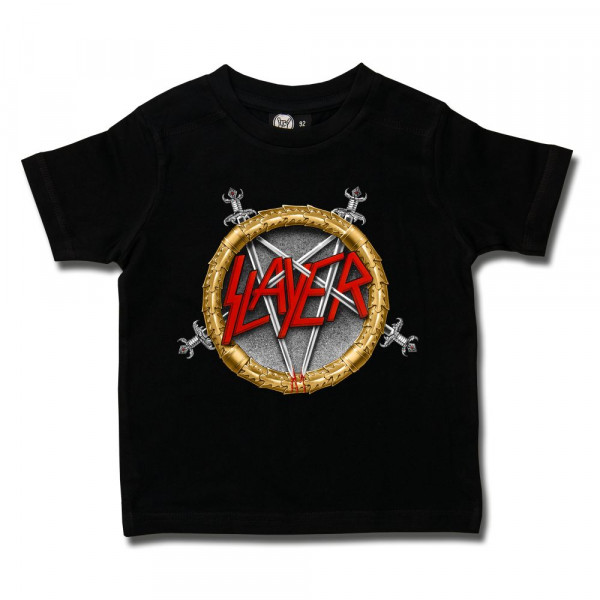 Slayer (Pentagram) Kids T-Shirt mit Aufdruck in multicolor auf Metal-Kids Markenware