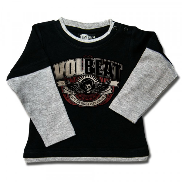 Volbeat (SkullWing Boogie) Baby Skater Shirt mit Aufdruck in multicolor auf Metal-Kids Markenware