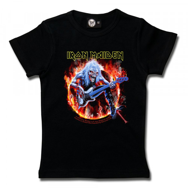Iron Maiden (Fear Live Flame) Girly Shirt mit Aufdruck in multicolor auf Metal-Kids Markenware